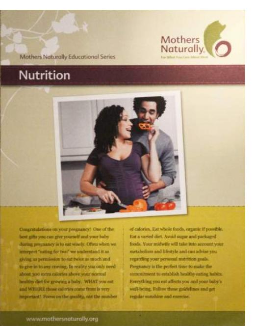 Midwives Alliance of North America Nutritional Handouts